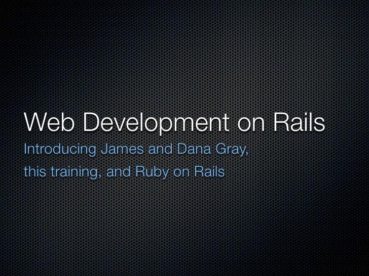Wed Development on Rails