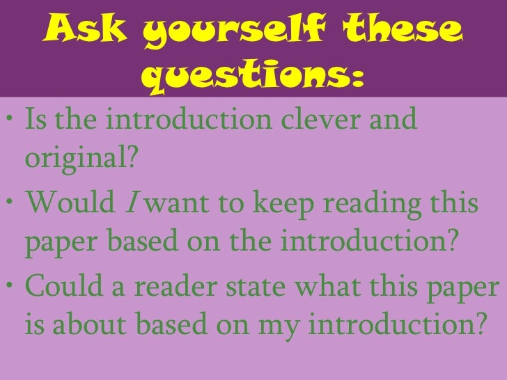 questions to ask yourself when writing a thesis