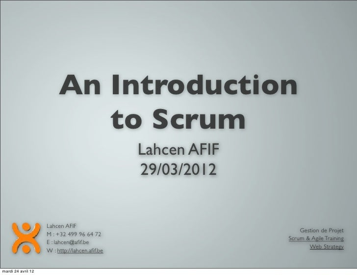 Introduction à SCRUM par Lahcen Afif