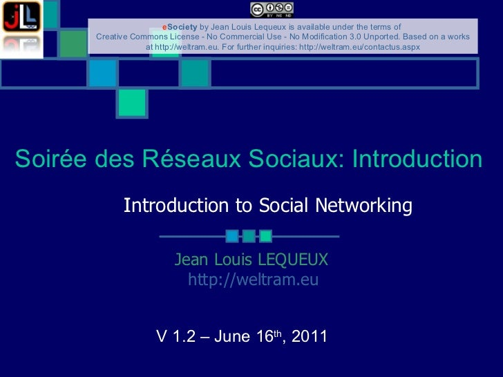 Introduction to Social Networking
