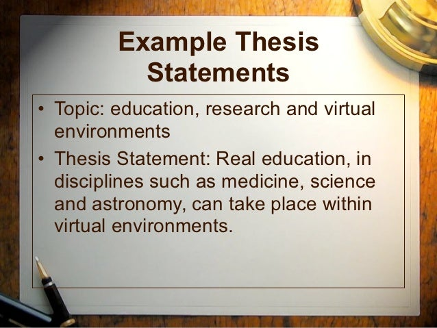 Thesis Statement For Education
