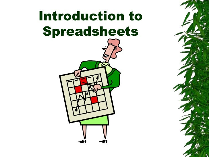 Introductions to spreadsheets