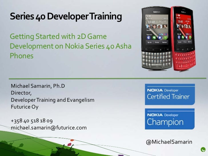 Introduction to 2D Game Development on Nokia Series 40 Asha Phones