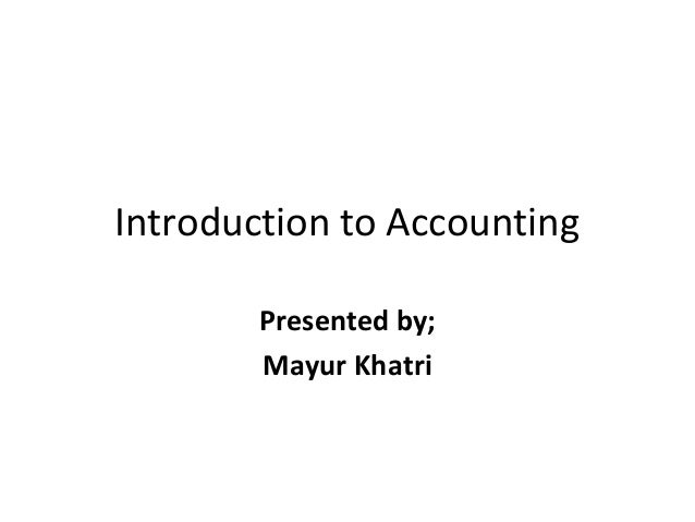 an introduction to accounting Forensic accounting: an introduction to fraud this three session prep course is  specifically designed for non-accountants who are pursuing the forensic.