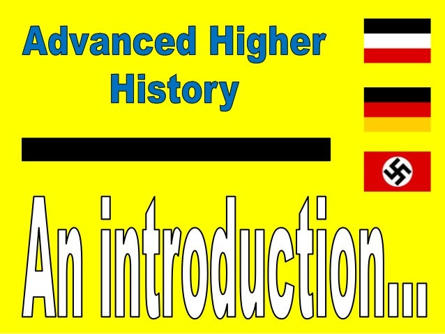 advanced higher history dissertations Assessment at this level comprises of end of unit assessments, an assignment and a final exam advanced higher students also have the opportunity to progress to advanced higher history in s6 where they specialise in one particular field of study (russia 1914 – 1941), complete a dissertation and sit a final exam.