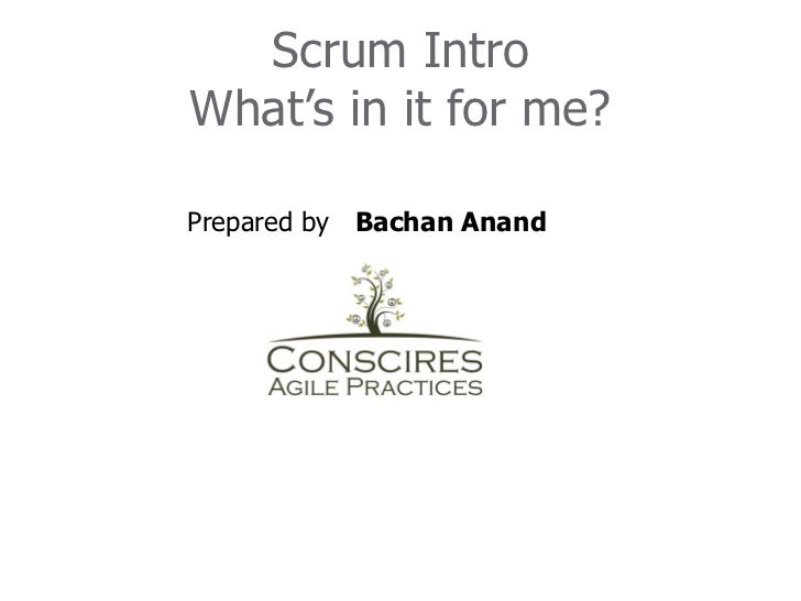 Introduction to agile scrum july 18th