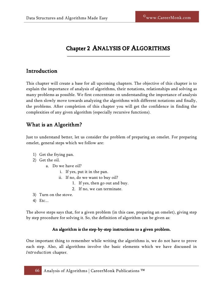 ©www.CareerMonk.comData Structures and Algorithms Made Easy                      Chapter 2     ANALYSIS OF ALGORITHMSIntro...