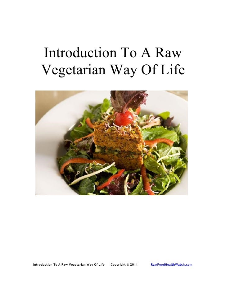 Introduction to a raw vegetarian way of life
