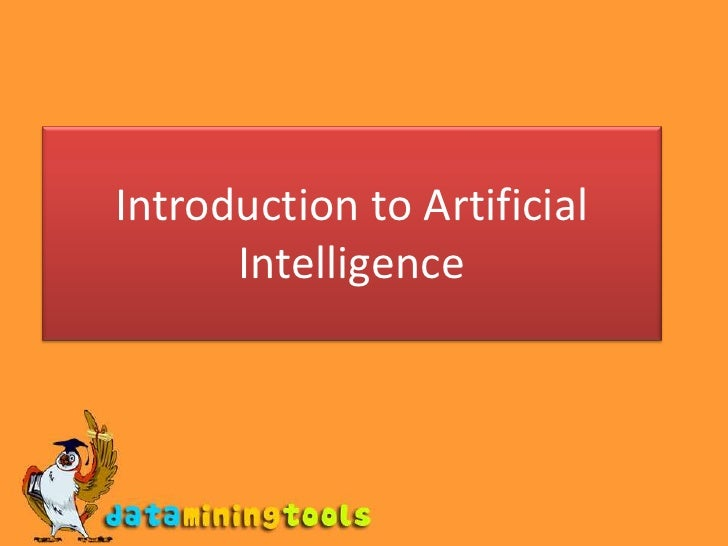 AI: Introduction to artificial intelligence