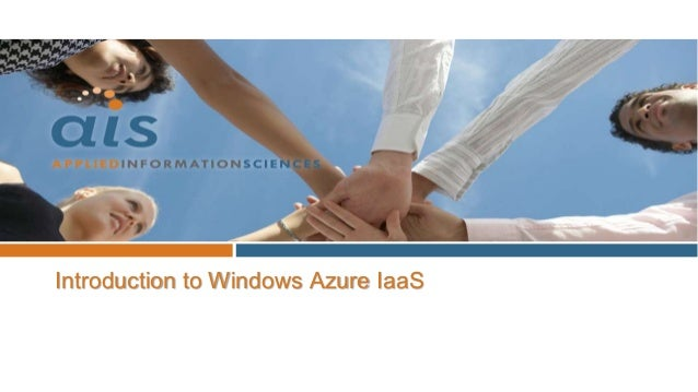 Software & System EngineersIntroduction to Windows Azure IaaS