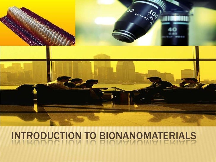 Introduction to bionanomaterials<br />