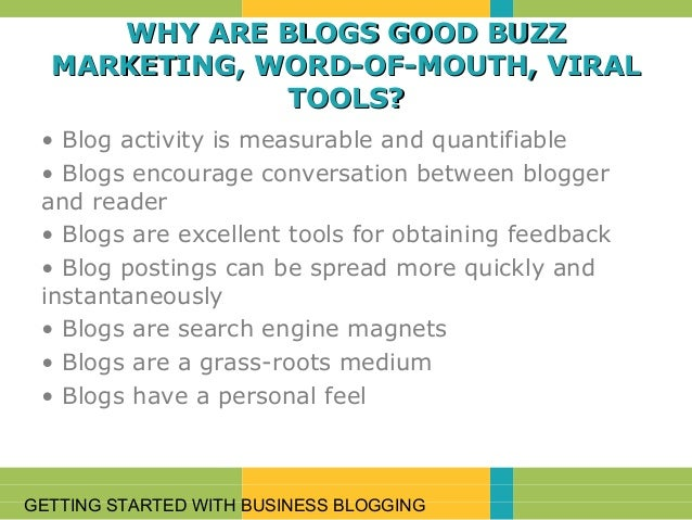 Introduction to Blogging. - IT Info World