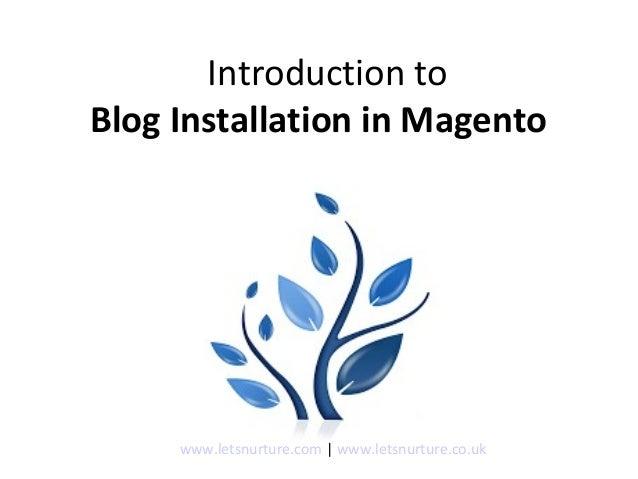 Blog installation in magento