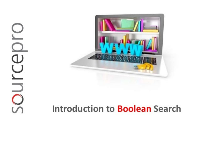 Introduction to boolean search