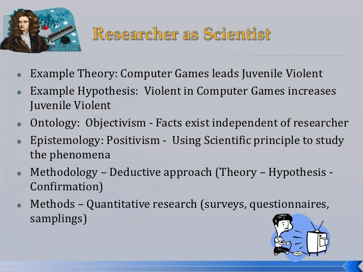 Scientific method paper example