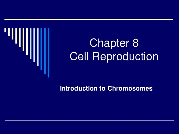 Chapter 8  Cell ReproductionIntroduction to Chromosomes