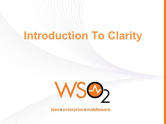 Introduction To Clarity