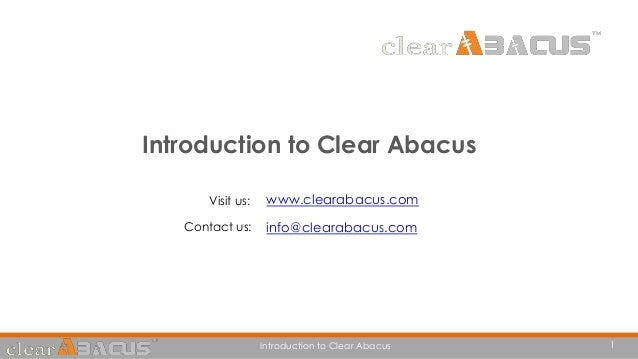 Introduction to Clear Abacus