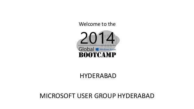 Welcome to the HYDERABAD MICROSOFT USER GROUP HYDERABAD