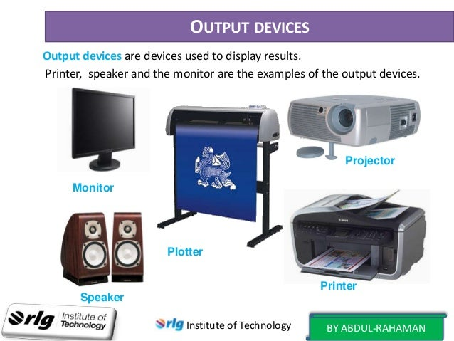 Input and output devices used for computer graphics