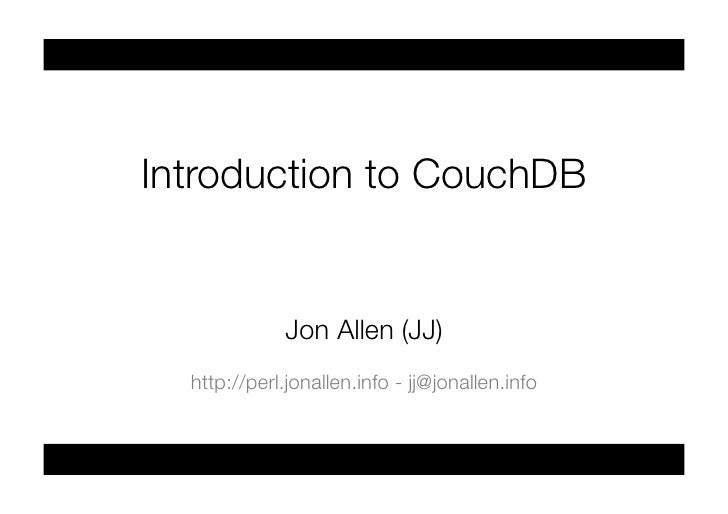 Introduction to couchdb