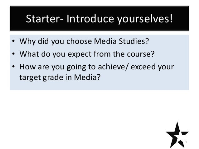 Introduction to coursework