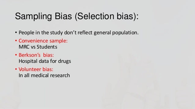 Case controlled study bias