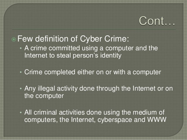 an introduction to the issue of internet crime Jurisdictional issues in cyber crime  issues in cyber crimes introduction  that have been committed over the internet to address this issue,.