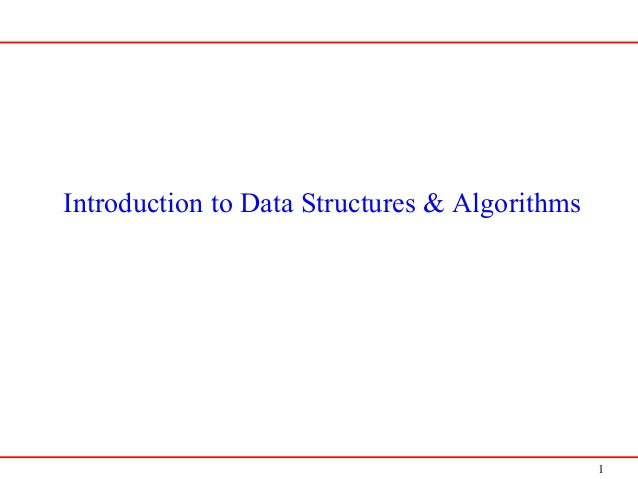 1 Introduction to Data Structures & Algorithms