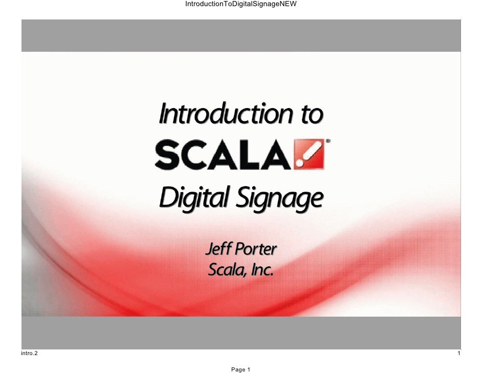 Introduction To Digital Signage