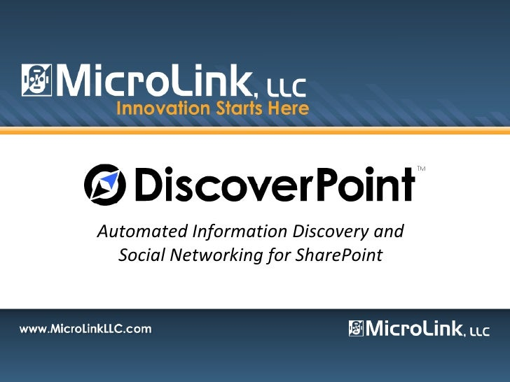 Introduction To Discover Point MicroLink\'s Latest Innovative Product for SharePoint