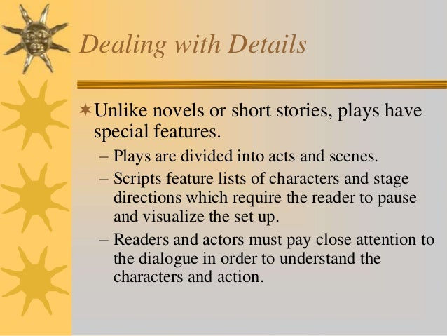 Acting Play Script Plays Are Divided Into Acts