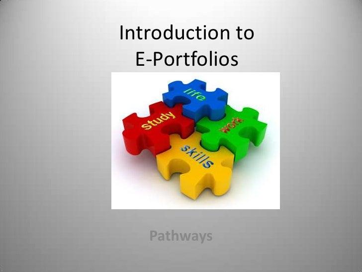 Introduction to e portfolio