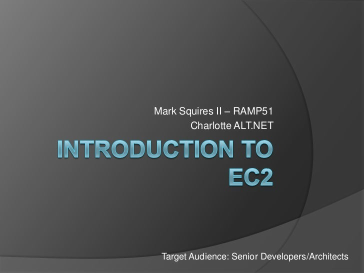 Introduction to EC2