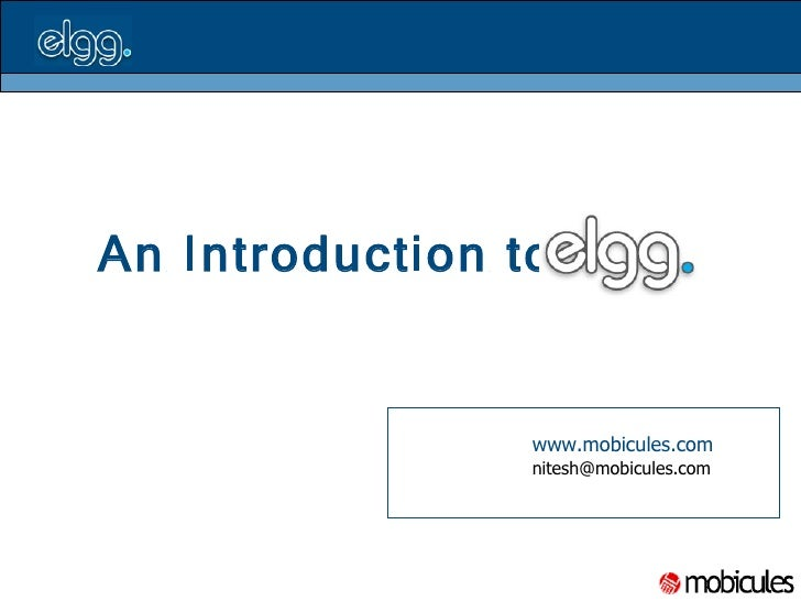 An Introduction to     www.mobicules.com   [email_address]