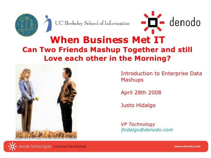 Introduction To Enterprise Data Mashups
