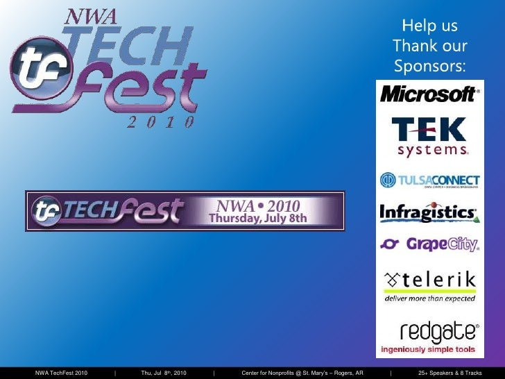 Introduction to SharePoint 2010 Enterprise Search - NWA TechFest 2010