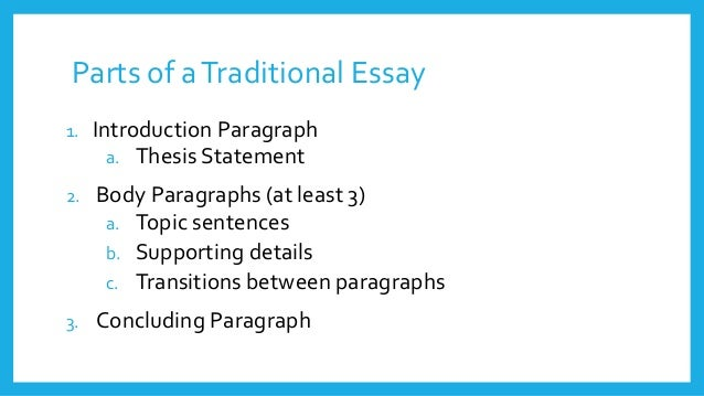 Essay development