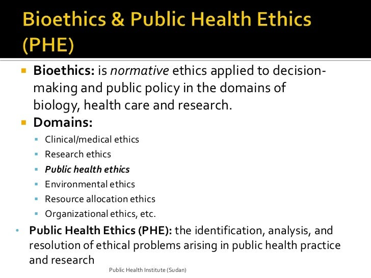 comparison of public health and clinical research ethics Georgetown law faculty publications georgetown public law and legal theory research paper no 10-36  june 2010  mapping the issues: public health, law and ethics.