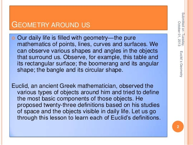essay on geometry Essay: on geometry (with particular reference to the theory of relativity) by ardeshir mehta 414 kintyre pr.