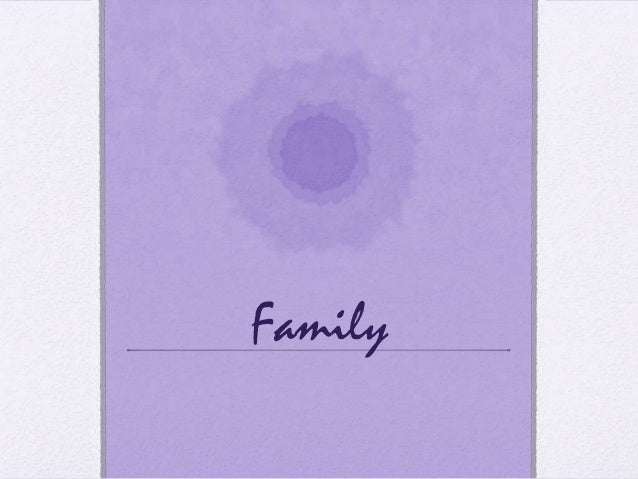 Introduction to families