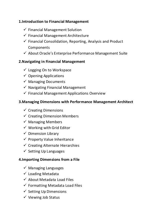Hyperian financial management Online Training @ Adithya Elearning