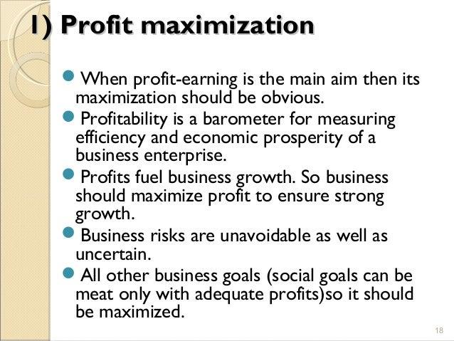 profit maximization in financial management pdf