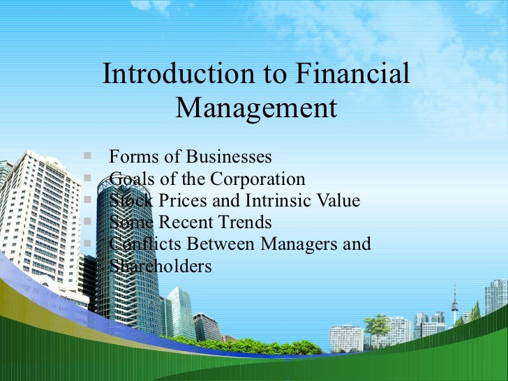 Introduction to financial management ppt @ mba