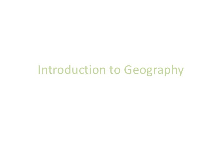 Introduction to Geography<br />