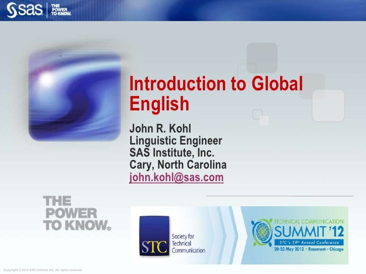 Introduction to Global                                                           English                                  ...