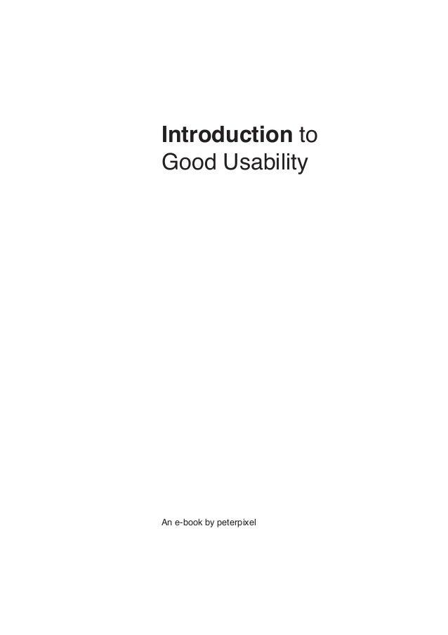 Introduction toGood UsabilityAn e-book by peterpixel