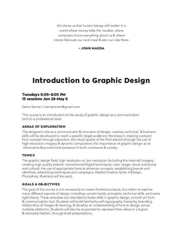 Introduction to graphic design 3