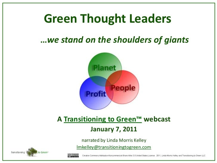 Introduction to green thought leaders