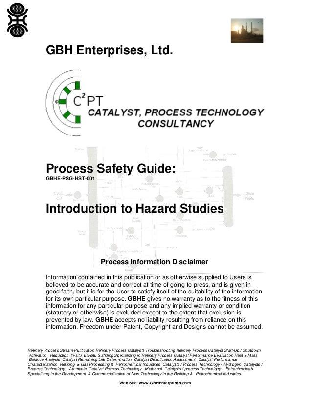 Introduction to Hazard Studies